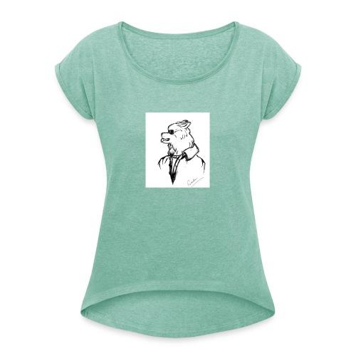InkedThe Dog style bak LI - Camiseta con manga enrollada mujer