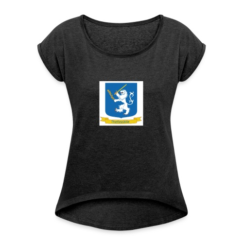 TheRealAlle4433 Logo - Women's T-Shirt with rolled up sleeves