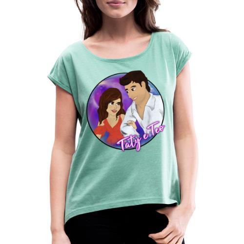 Milky Way (handmade) - Maglietta da donna con risvolti