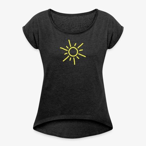 iYpsilon Sonne - Frauen T-Shirt mit gerollten Ärmeln