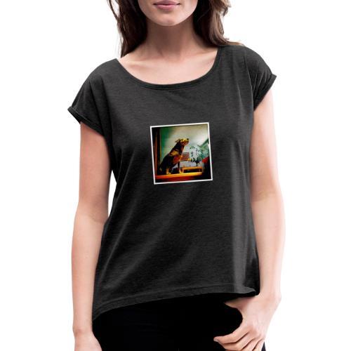 Baby Langarm - Frauen T-Shirt mit gerollten Ärmeln