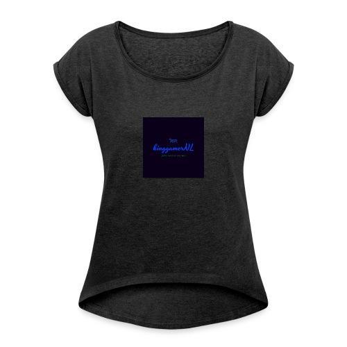 kinggamerNL - Vrouwen T-shirt met opgerolde mouwen