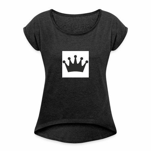 krone - Frauen T-Shirt mit gerollten Ärmeln