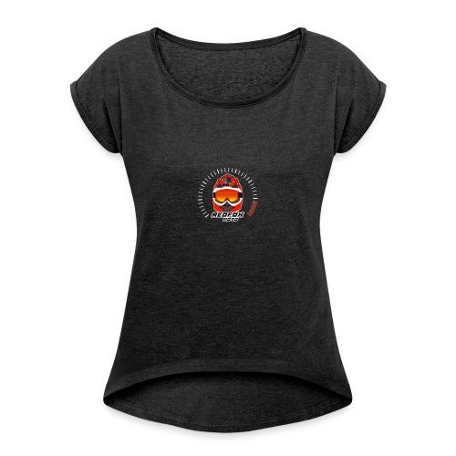 RedFox - T-shirt à manches retroussées Femme