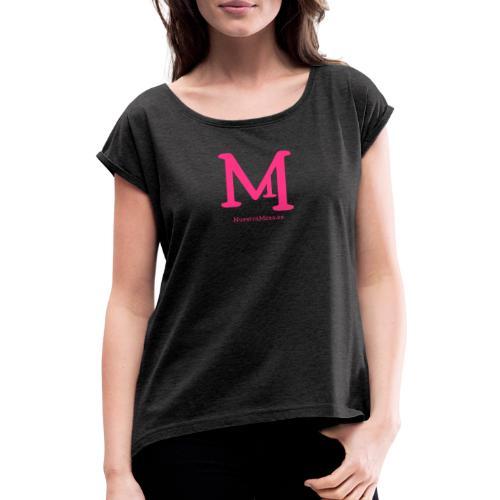 M de Mesa - Camiseta con manga enrollada mujer
