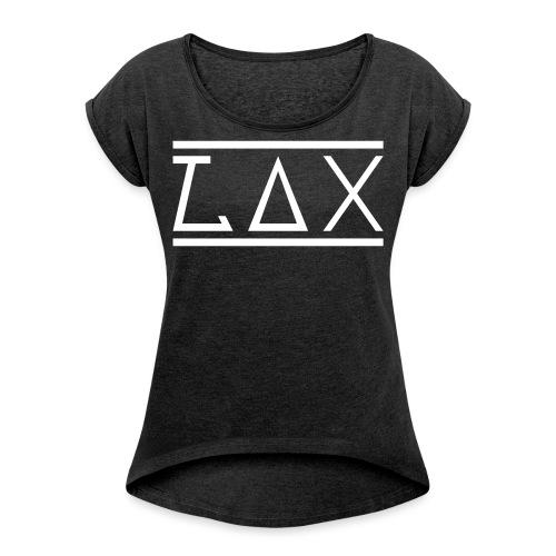 LAX-Logo1 - Frauen T-Shirt mit gerollten Ärmeln