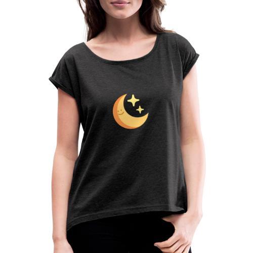 luna - Camiseta con manga enrollada mujer