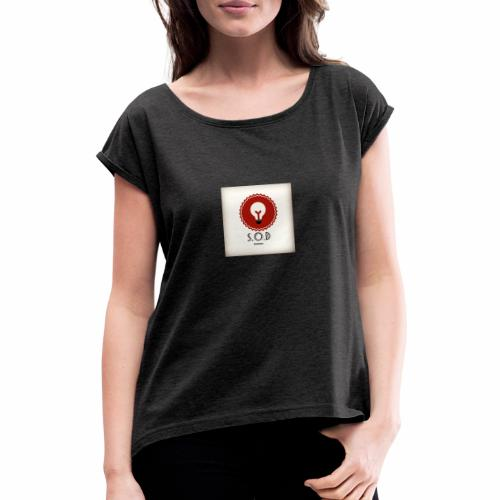 Vintage S.O.D BARBERS - Women's T-Shirt with rolled up sleeves