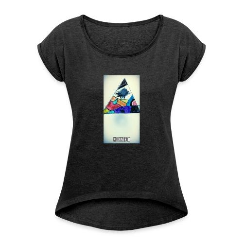 triangle logo spirit - T-shirt à manches retroussées Femme