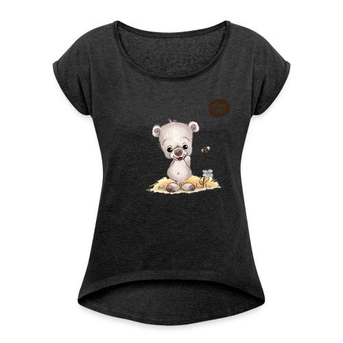 Noah der kleine Bär - Frauen T-Shirt mit gerollten Ärmeln