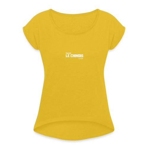 T Patricklechinois - T-shirt à manches retroussées Femme