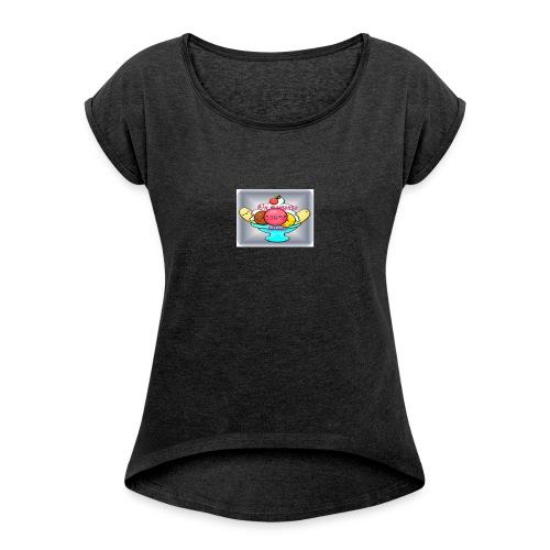 baby ice cream - Camiseta con manga enrollada mujer