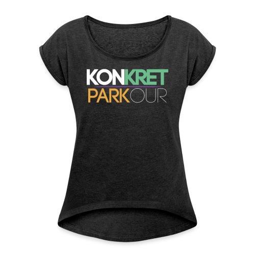 konkret parkour simple yt - T-shirt med upprullade ärmar dam