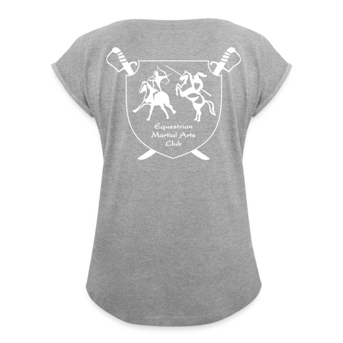 logo miekat vektorig - Naisten T-paita, jossa rullatut hihat