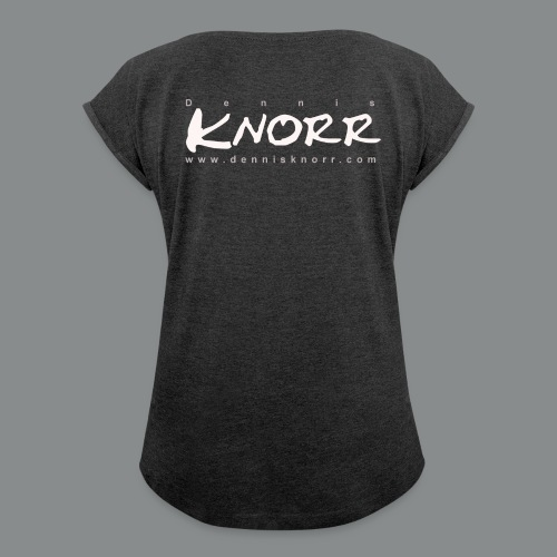 DennisKnorr Log w - Frauen T-Shirt mit gerollten Ärmeln
