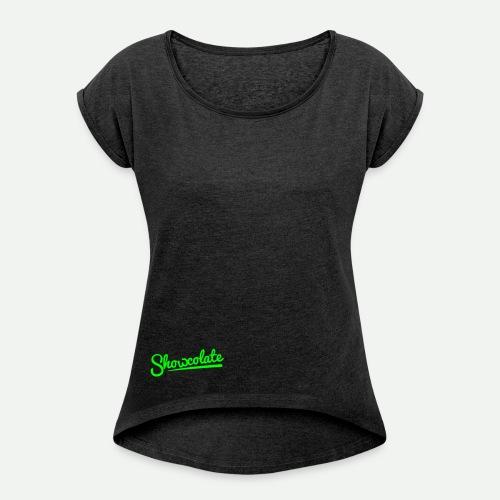 Logo Showcolate vector vo - Frauen T-Shirt mit gerollten Ärmeln