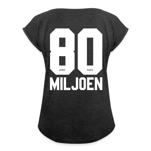 untitled1 - Vrouwen T-shirt met opgerolde mouwen