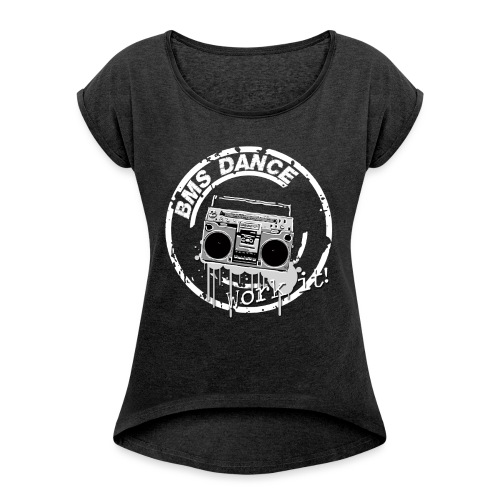 BMS Dance grey - Vrouwen T-shirt met opgerolde mouwen