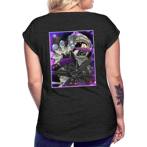 FPV Space Alien by Logo Jobo - Frauen T-Shirt mit gerollten Ärmeln