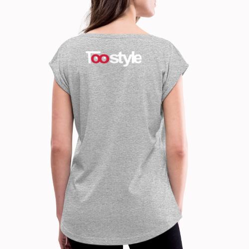 Toostyle white - Maglietta da donna con risvolti