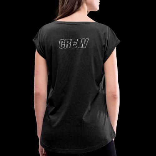 crew2019 - T-shirt à manches retroussées Femme