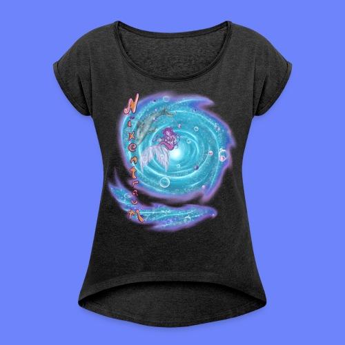 nixentraum - Frauen T-Shirt mit gerollten Ärmeln