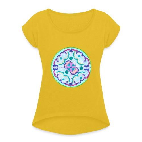 Creativity Peace gif - Maglietta da donna con risvolti