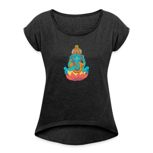 IMG_0288 2 - T-shirt med upprullade ärmar dam