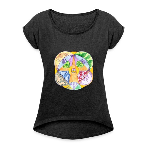 Creativity Focus sfondo trasparente gif - Maglietta da donna con risvolti
