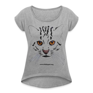viverrina 1 - Women's T-shirt with rolled up sleeves