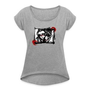 the Spirit of the Hawk - Frauen T-Shirt mit gerollten Ärmeln