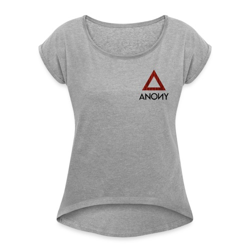 Anony Logo - Camiseta con manga enrollada mujer