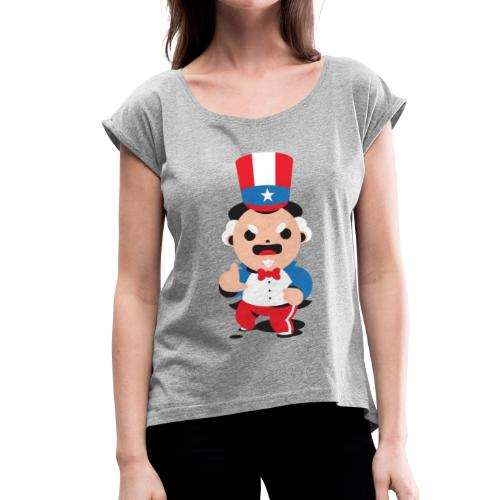 Oncle S - T-shirt à manches retroussées Femme