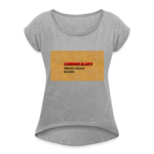Tee Design - Women's T-Shirt with rolled up sleeves