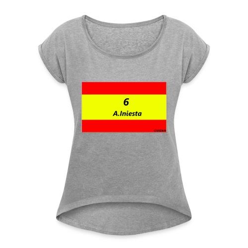 A.INIESTA - Camiseta con manga enrollada mujer