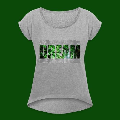 DreamJungle - Frauen T-Shirt mit gerollten Ärmeln