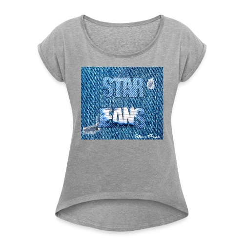 JEANS STAR PRICE - Women's T-shirt with rolled up sleeves