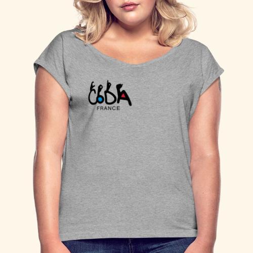 CodaFrance - T-shirt à manches retroussées Femme