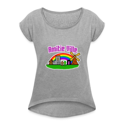 Amitie Ville Logo Shirt - Women's T-Shirt with rolled up sleeves