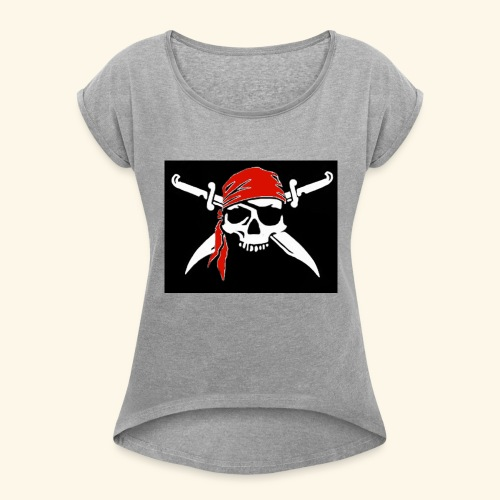 Bones Flag - Camiseta con manga enrollada mujer