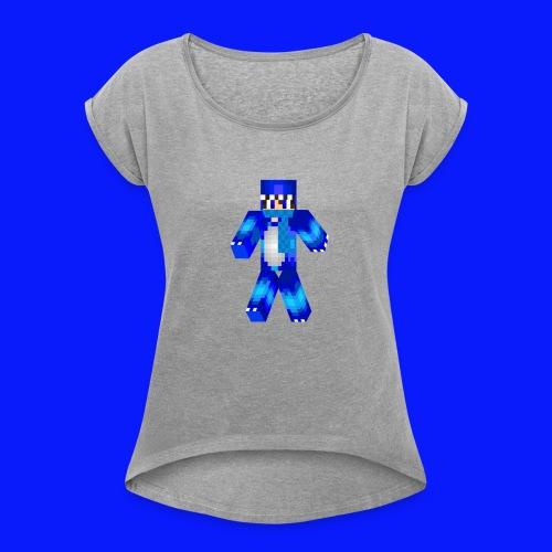 GamingSkill Skin - Frauen T-Shirt mit gerollten Ärmeln