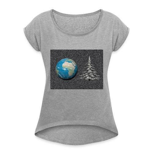 world_christmas3 - T-shirt à manches retroussées Femme