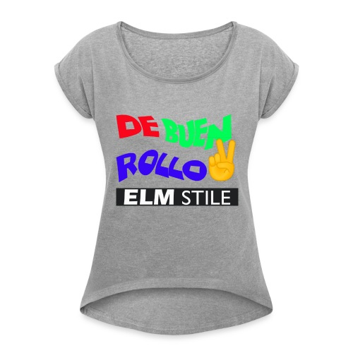 DE BUEN ROLLO - Camiseta con manga enrollada mujer
