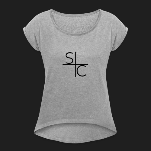 space curve - Vrouwen T-shirt met opgerolde mouwen