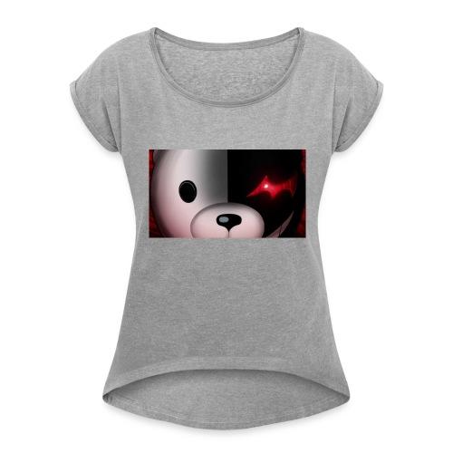 anime - Camiseta con manga enrollada mujer