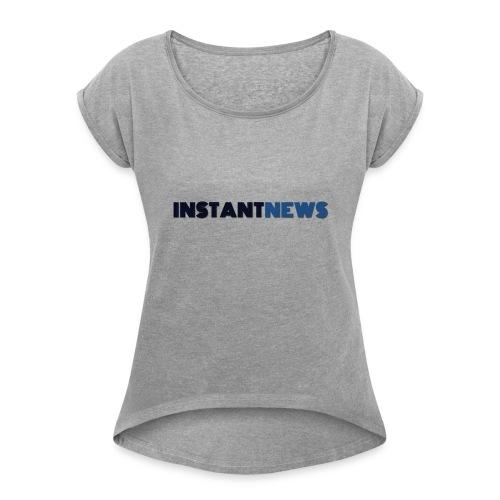 instantnews - Maglietta da donna con risvolti