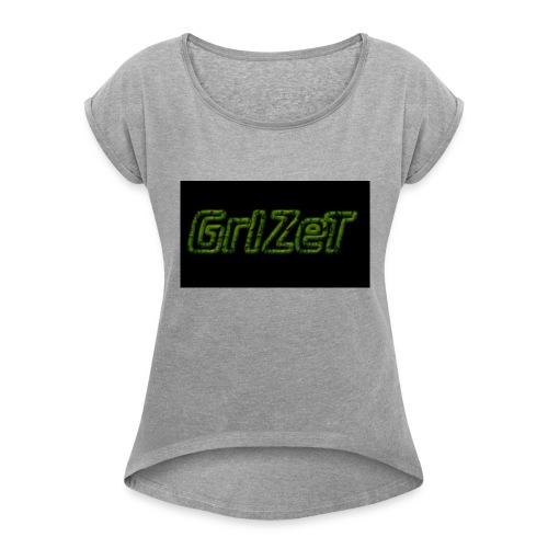 Grizet Merch - Frauen T-Shirt mit gerollten Ärmeln