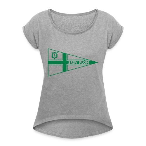 SRSV-WIMPEL_Kopie - Frauen T-Shirt mit gerollten Ärmeln