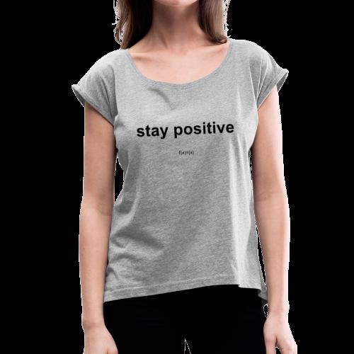 f(x)=|x| - Frauen T-Shirt mit gerollten Ärmeln