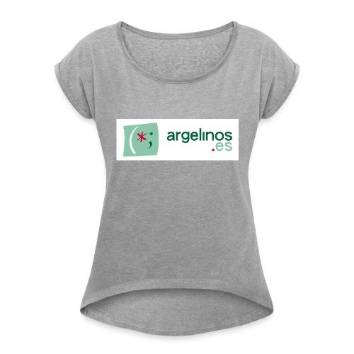 ArgelinosTshirt - Camiseta con manga enrollada mujer